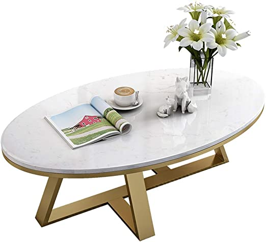 Modern End Table Table Oval Marble Coffee Table Tea Table Couch