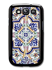 AMAF ? Accessories Classic Floral Tile print Case Samsung Galaxy S3 Flowers Decorative Background