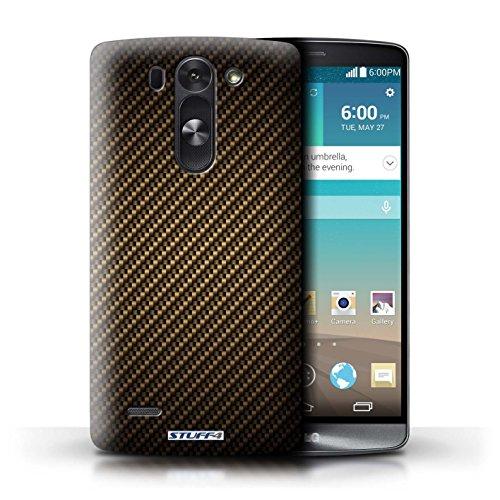Kobalt® Imprimé Etui / Coque pour LG G3 S (Mini)/D722 / Or conception / Série Motif de Fibre de Carbone