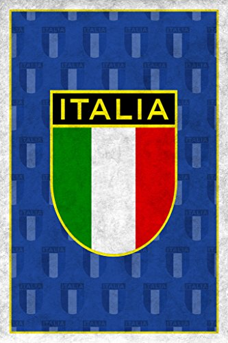 Italy Soccer Retro National Team Sports Poster 12x18