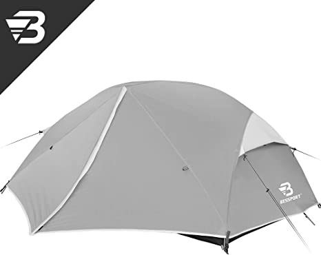 Bessport Tienda de Campaña 3-4 Personas Ligero con Dos Puertas A Prueba de UV/Viento Fuerte/Lluvia para Trekking, Campamento, Playa, 3-4 Estaciones: Amazon.es: Deportes y aire libre