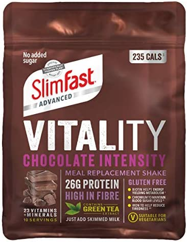 Slimfast - Vitality High Protein Meal Replacement Powder Shake - Chocolate Intensity Powder - 10 servings