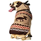 Chilly Dog Moosey Hoodie Dog Sweater, XX-Large