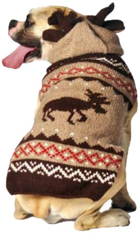 - Chilly Dog Moosey Hoodie Dog Sweater, X-Large
