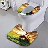HuaWu-home Universal Toilet Seat Tractor on The Grass Field Safety and Hygiene