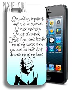 NEW Marilyn Monroe Cute Inspirational Quote Iphone 5 Case