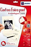 Avery 20 Faire-part ivoire A6 - Impression Jet d'Encre - (C2342)