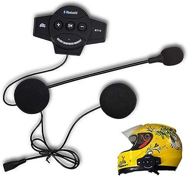Helmet Motorcycle Headset Bluetooth Earpiece Headphone BT Handsfree Mic//Speaker