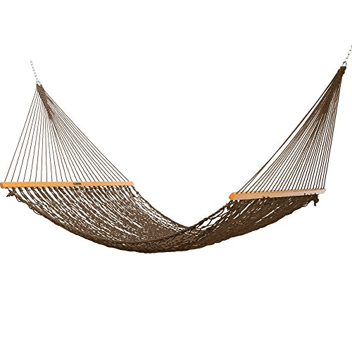 Original Pawleys Island 15DCAB Presidential Duracord Rope Hammock, Antique Brown ()