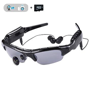 WOTUMEO Multifuncionales Gafas De Sol MP3 Mini DV DVR De La Cámara De Vídeo Espía De
