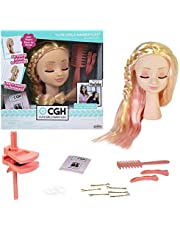 CGH Cute Girls Hairstyles Styling Head - Caucasian w/ Straight Hair