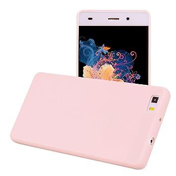 Yunbaozi Funda Compatible para Huawei P8 Lite Protective Case Carcasa Caucho Funda Protectora de Silicona Caramelo Ultra Suave Flexible Delgado ...
