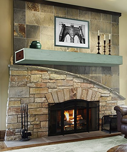 Pearl Mantels 400-60-19 Dakota 2-Drawer Storage Shelf, 60-Inch, Sage ()