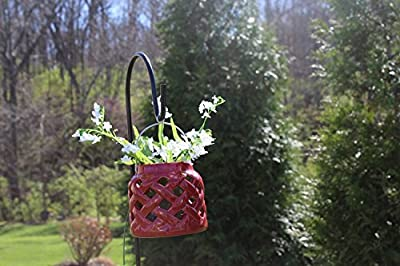 Ashman Ashman Double Span Black Deck Hook, Made of Premium Metal, Super Strong with 46-Inch Length and ideal for Bird Feeders, Plant Hangers, Coconut Shell Hanging Baskets, Lanterns and Wind Chimes and more! Black Deck Hook, Made of Premium Metal, Super S