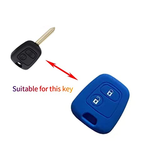 Amazon.com: Silicona Peugeot Citroën 2 Botones, Azul: Automotive
