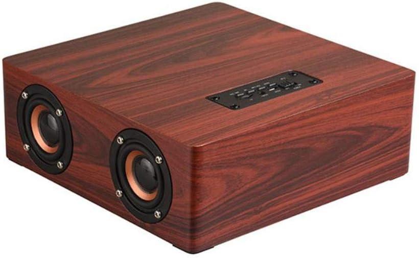 NNPE Altavoz inalámbrico de Madera de Bluetooth del teléfono móvil, Cuatro Altavoces Subwoofer Audio de los tiranos del Sonido TV del Ordenador del hogar 0828 (Color : A): Amazon.es: Electrónica