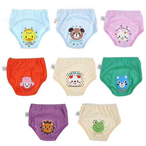 Babyluier 8 stuks lekvrije broek ademende katoenen luier herbruikbare luier luier trainingsbroek voor pasgeborenen…