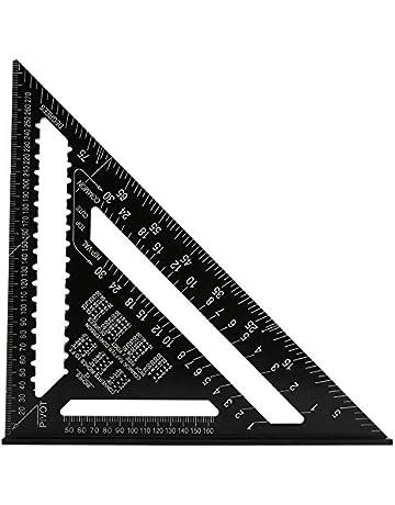 housesweet Quadrati Triangolo di 45 Gradi Righello angolare in Lega di Alluminio Strumento di misurazione Righello per Carpentiere
