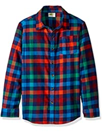 Little Boys' Long Sleeve Flannel Shirt Plaid