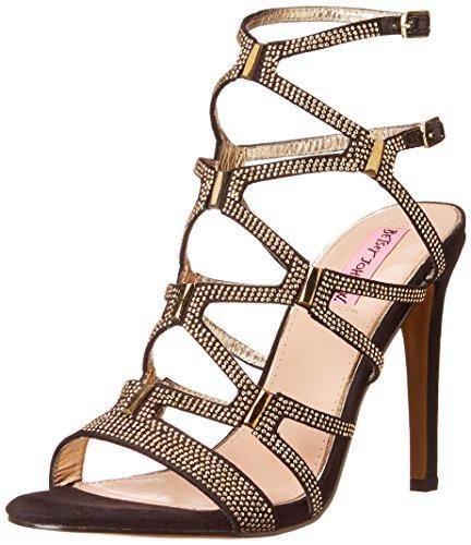 Betsey Johnson Womens Ritzyy Dress Sandal Black / Multi
