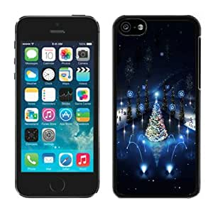 Customization Lovely Iphone 5C TPU Case Christmas Trees lighting Black iPhone 5C Case 1 by Maris's Diary