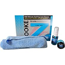 Zooke Blue Kit - Anti-Fog Spray for Snowmobiling, Motorcycling, Snowboarding, Skiing, Bicycling, Snorkeling, Swimming, Diving, Paintballing, Hockey, Football.