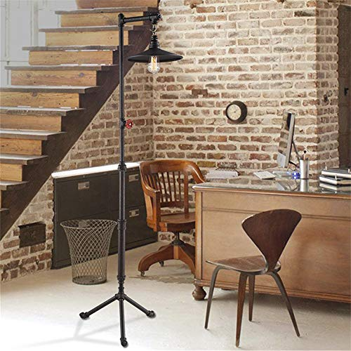 Goodvon Retro Water Pipe Lamp Floor Lamp European Retro Steam Punk Industrial Wind for Restaurant Hotel Living Room Deco Retro Bedroom Study Reading Indoor Lighting (Hotel Reading)