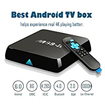 2017 GooBang Doo M8S-II Android 6.0 TV Box , 2GB+8GB Amlogic S905X 64 Bits Quad Core and Supporting 4K (60Hz) Full HD/ H.265 /Bluetooth 4.0/WiFi 2.4GHz&5.0GHz/1000M LAN