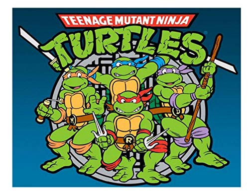 Hnfstjz 5D DIY Diamond Painting Cartoon Teenage Mutant Ninja Turtles Embroidery Cross Stitch Needlework Christmas Home Decor 30X40Cm -