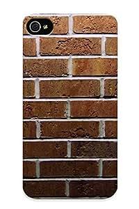 Fireingrass New Arrival RNJPl0MpghY Premium Iphone 4/4s Case(wall Bricks )