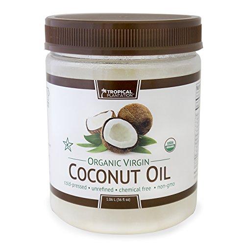 (Tropical Plantation 72oz Organic Virgin Coconut Oil Twin Pack (2 - 36oz jars))