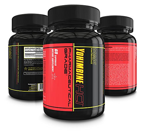 MAN Sports Yohimbine HCI 3mg, Weight Loss Supplement, 60 Cap