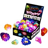 Kangaroo KM-10064-295 Flashing Led Light up Toys, Bumpy Rings, 18-Pack