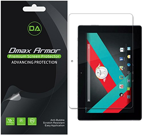 [3-Pack] Dmax Armor for SmarTab 10.1 Anti-Glare & Anti-Fingerprint Screen Protector - Lifetime Replacements Warranty- Retail Packaging
