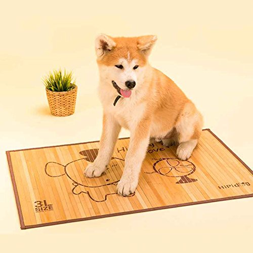 WENZHE Mattresses Cooling Mattresses Bamboo Bedding Straw Mat Summer Sleeping Mats Bed-mat Pet Pad Dogs Large Dogs Cooling Kennel Pad, 4 Sizes Pad (Size : 90 × 60 cm)