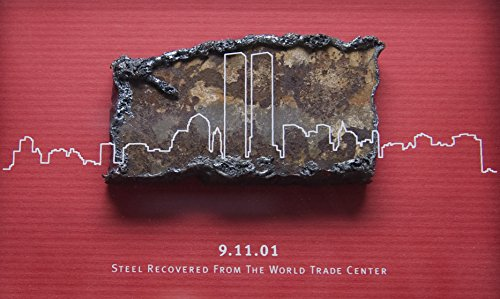 World Trade Center Steel - Home Comforts Laminated Poster Steel Recovered from The World Trade Center is displayed Aboard The Amphibious Transport Dock Ship Vivid Imagery Poster Print 24 x 36