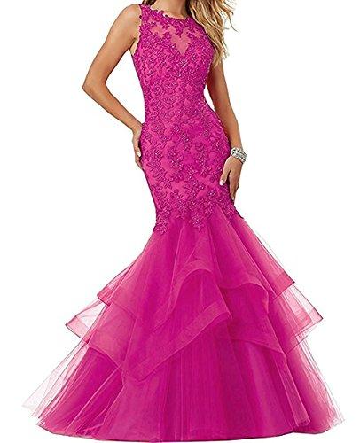Langes Spitze Figurbetont Damen Neu La Abendkleider Braut Partykleider Pink Blau Meerjungfrau Marie Promkleider Ballkleider pA1t1xw6
