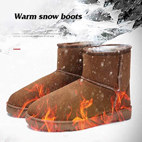 Men Winter Da Boots Fur Piatto Scarpe Ankle Slittamento Li Foderato Outdoor Warm Stivali Casual Miss Neve Boot Brown Snow Short Faux EP8xvnwnq