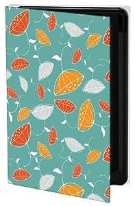 Keka Classic Emily Ann Studio Modern Floral Teal - Funda rígida para iPhone 5, diseño de flores, color naranja y verde