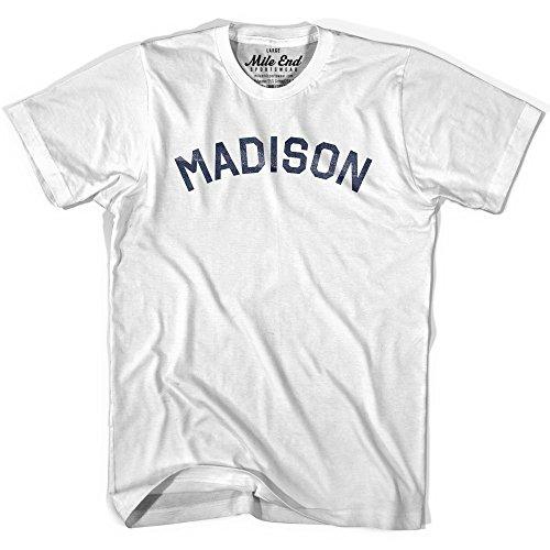 Madison City Vintage T-shirt, White, Youth X-Large