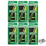 Dixon Ticonderoga Wood-Cased #2 Pencils, Case of 72, Black, Bundle with Metal Pencil Sharpener