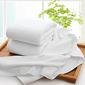 ZHFC Hotel hotel puro algodón toalla de baño blanco Soft salones de belleza pie baño conjunto ...
