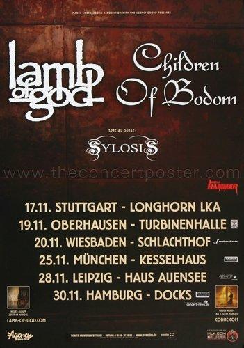 Lamb of God - Sturm Und Drang 2015 - Concert Poster
