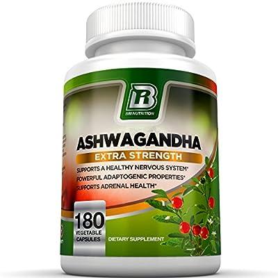 BRI Nutrition Ashwagandha - Premium Stress & Anxiety Relief w/ Energy Boost & Calm , 1000mg Per Serving - 2 Vegetarian Vegetable Capsules