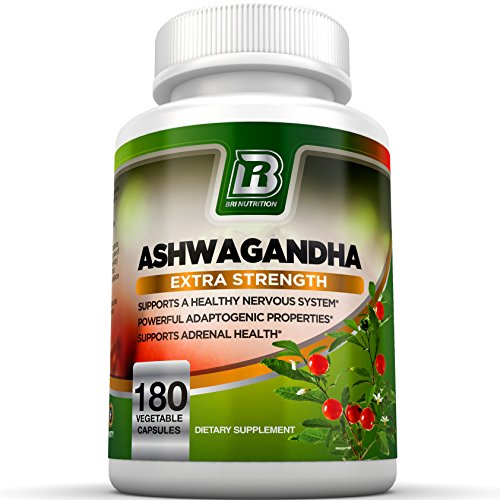 Ashwagandha - 1000mg/Serving, Premium Stress & Anxiety Relief w Energy Boost & Calm, Vegetarian Vegetable Capsules (180 Count)