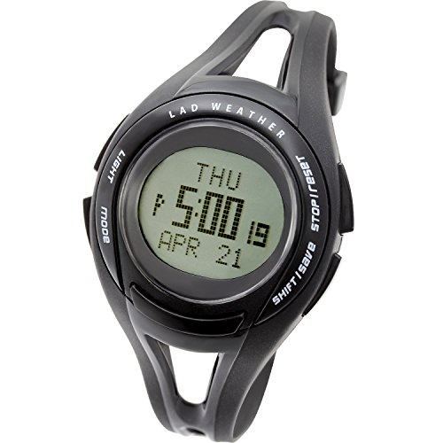 Lad Weather Running Watch Sports Lightweight Speed Distance Training Watches lad001 (Black)