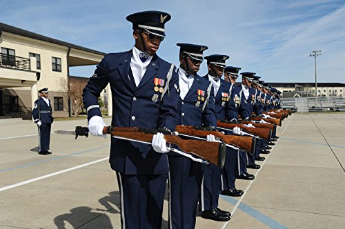 - Posterazzi Poster Print Collection the United States Air Force Honor Guard Drill Team Practices a New Routine Stocktrek Images, (34 x 22), Multicolored
