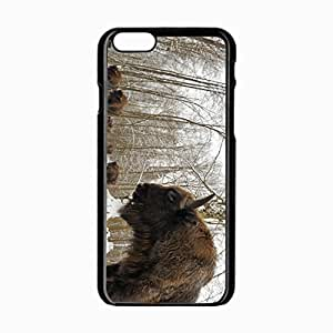 iPhone 6 Black Hardshell Case 4.7inch bialowieza forest herd bison snow Desin Images Protector Back Cover