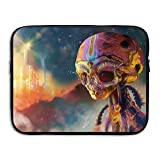 Computer Liner Bag Alien Abstract Psychedelic Science Chemistry Laptop Bag Liner Bag Laptop Computer Sleeve 15 Inch Tablet Case Computer Accessories For Macbook Air Pro