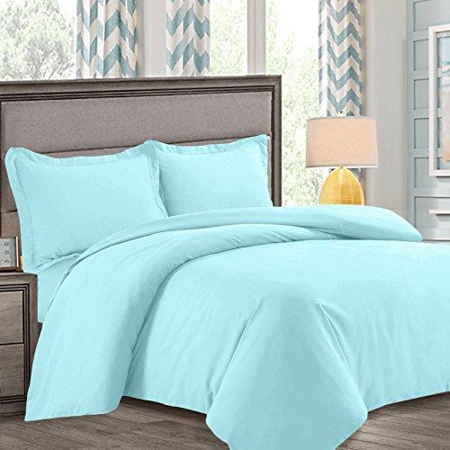 Nestl Bedding Duvet Cover, Protects and Covers your Comforter/Duvet Insert, Luxury 100% Super Soft Microfiber, Queen Size, Color Aqua Light Blue, 3 Piece Duvet Cover Set Includes 2 Pillow Shams